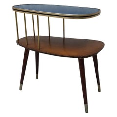 Danish Double Laminate Shelf Coffee Table, 1950s