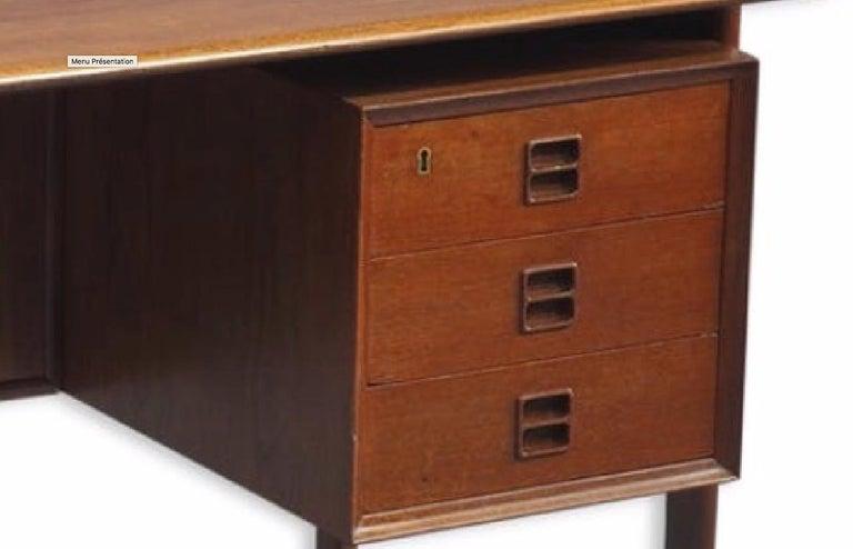 Mid-Century Modern Danish Double-Sided Teak Desk by Arne Vodder for Sibast, 1960