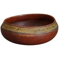 Danish Drinking Bowl Dated, 1816