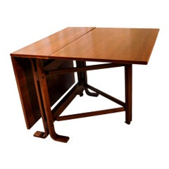 Danish Drop Leaf Teak Dining Table Bruno Mathsson Style