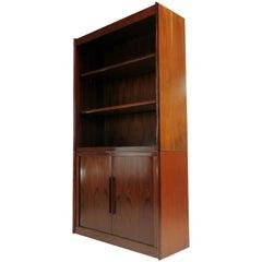 Danish Dyrlund Rosewood Display Cabinet Wall Unit