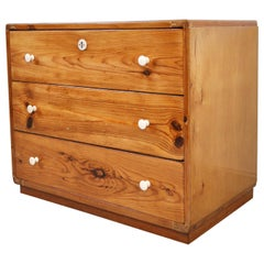 Danish Early 20th Century Pine Chest of Drawers