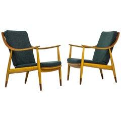 "Danish Easy Chairs ""FD 145"" by Peter Hvidt & Orla Mølgaard-Nielsen"