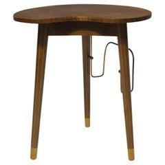 Danish Edmund Jørgensen Walnut Side Table