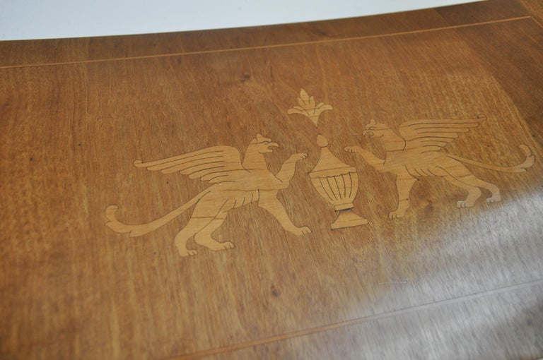 Danish Empire Armchair in Mahogany with Birch Inlays 6