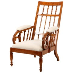 Danish Empire Elmwood Armchair