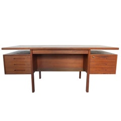 Danish Executive Freestanding Desk in Teak Designed in 1962