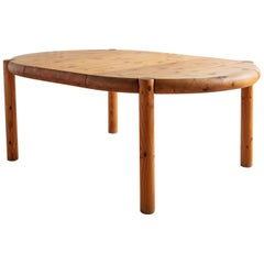 Danish Extendable Pine Dining Table by Rainer Daumiller