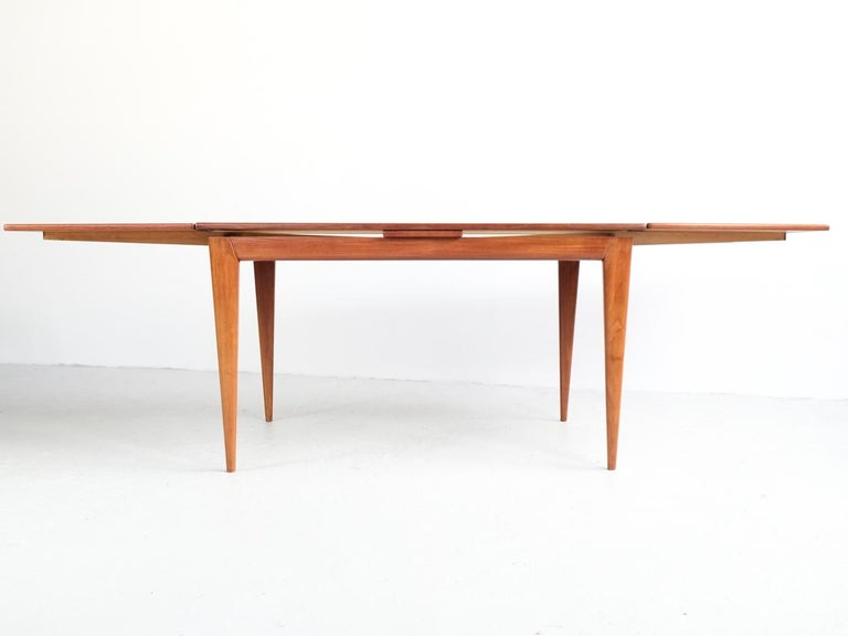 Danish Extendable Table in Teak with 2 Extensions by Møller, 1960s For Sale 4