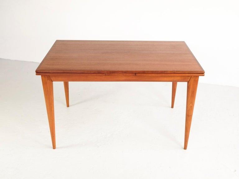 Mid-Century Modern Danish Extendable Table in Teak with 2 Extensions by Møller, 1960s For Sale
