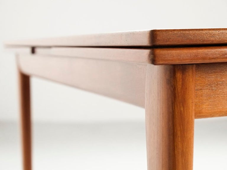 20th Century Danish Extendable Table in Teak with 2 Extensions by Møller, 1960s For Sale