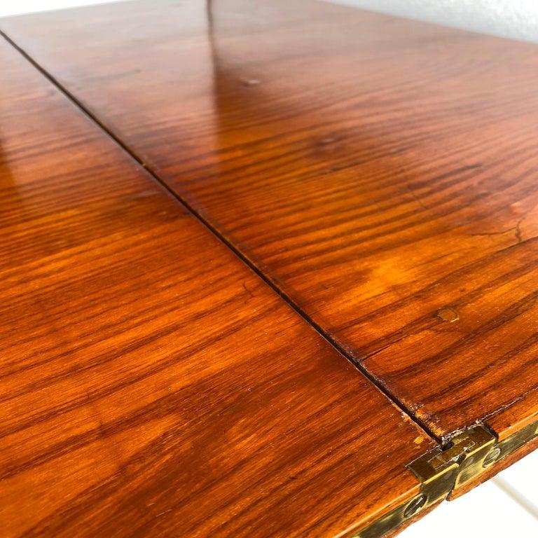 Danish Faux Bamboo Biedermeier Game Table For Sale 5