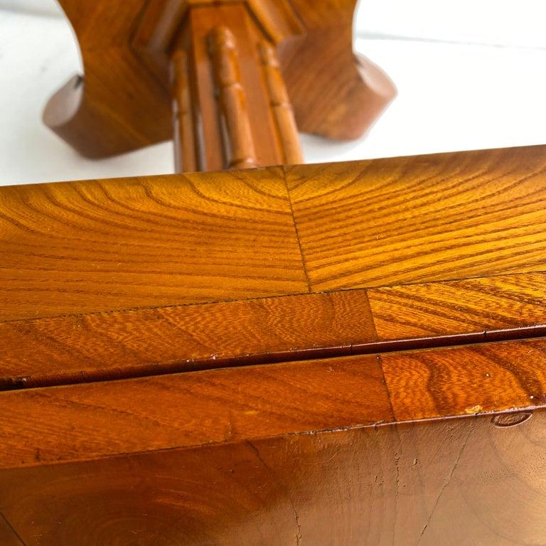 Danish Faux Bamboo Biedermeier Game Table For Sale 7