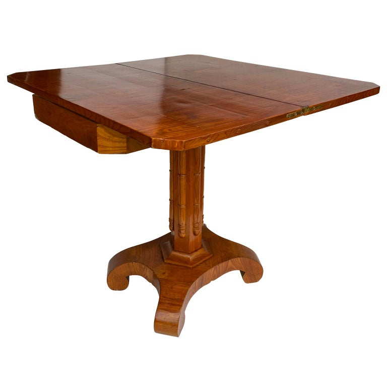 19th Century Danish Faux Bamboo Biedermeier Game Table For Sale