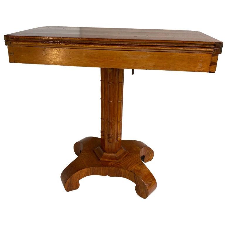 Danish Faux Bamboo Biedermeier Game Table For Sale 1