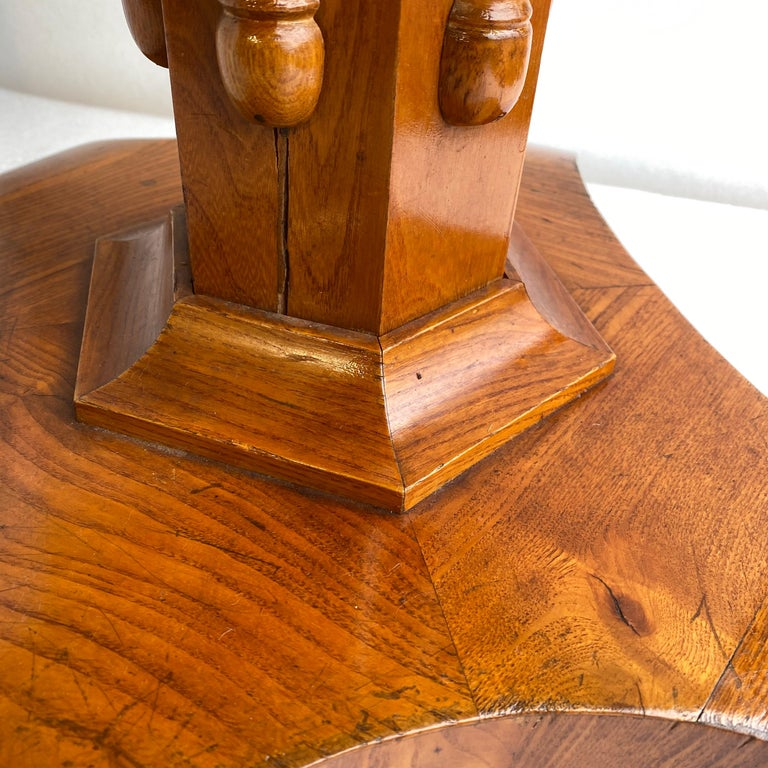 Danish Faux Bamboo Biedermeier Game Table For Sale 2