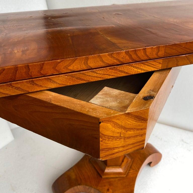 Danish Faux Bamboo Biedermeier Game Table For Sale 3