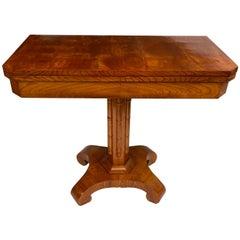 Danish Faux Bamboo Biedermeier Game Table