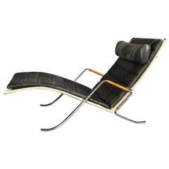 Danish FK 87 Grasshopper Chaise Lounge Fabricius & Kastholm, Lange Production