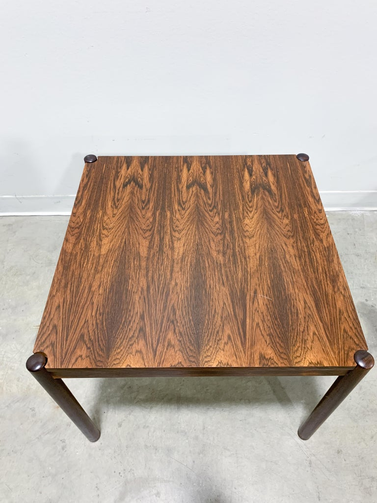 20th Century Danish Flip Top Chess Table in Rosewood For Sale
