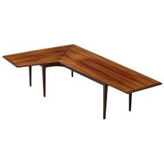 Danish Freeform Coffee Table in Rosewood
