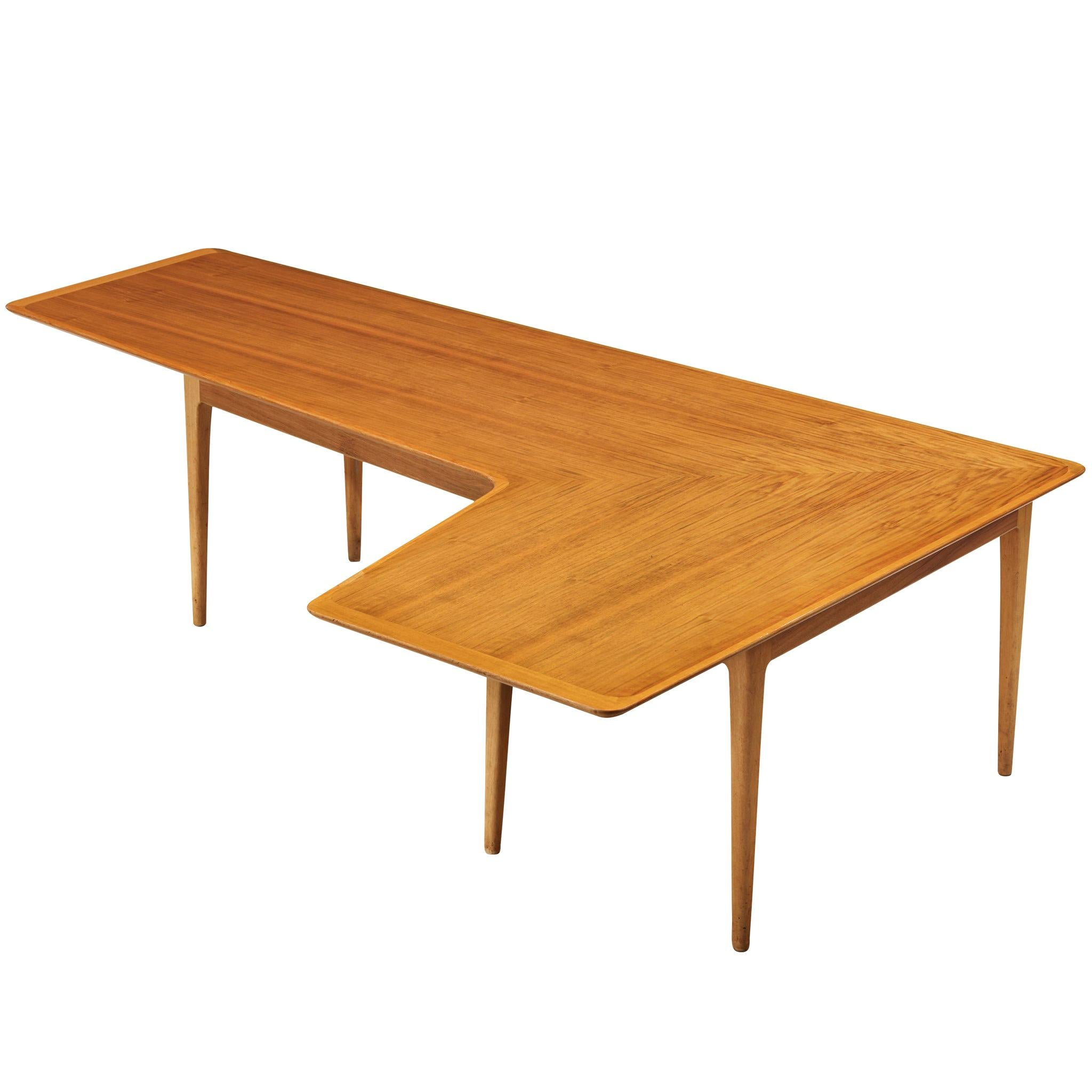 Danish Freeform Coffee Table in Pine
