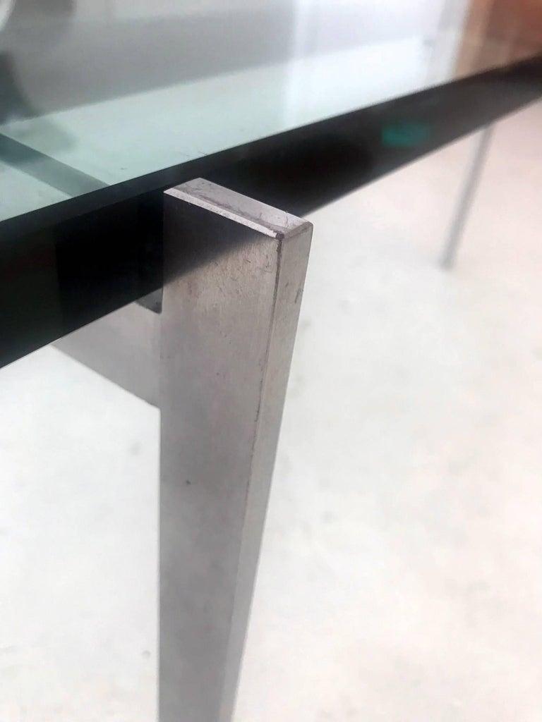 Danish glass top coffee table PK-61 Poul Kjaerholm For Sale 4
