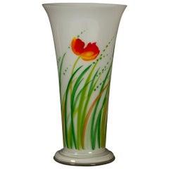 Danish Glass Vase by Ole Kortzau for Holmegaard, 1978