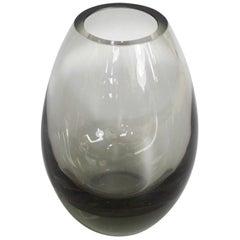 Danish Glass Vase by Per Lütken for Holmegaard Glassworks Signed and Dated 1961