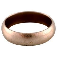 Danish Goldsmith, Classic Gold Ring in Stylish Design, circa 1950s