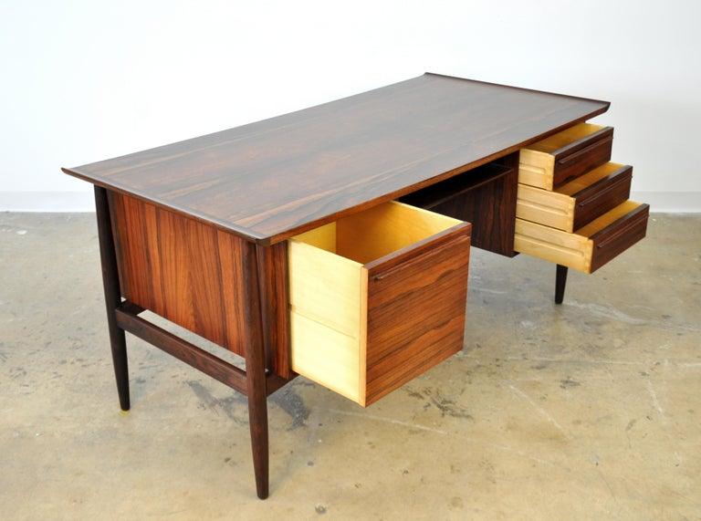Danish H. P. Hansen Rosewood Desk For Sale 4