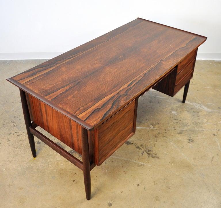 Danish H. P. Hansen Rosewood Desk For Sale 5