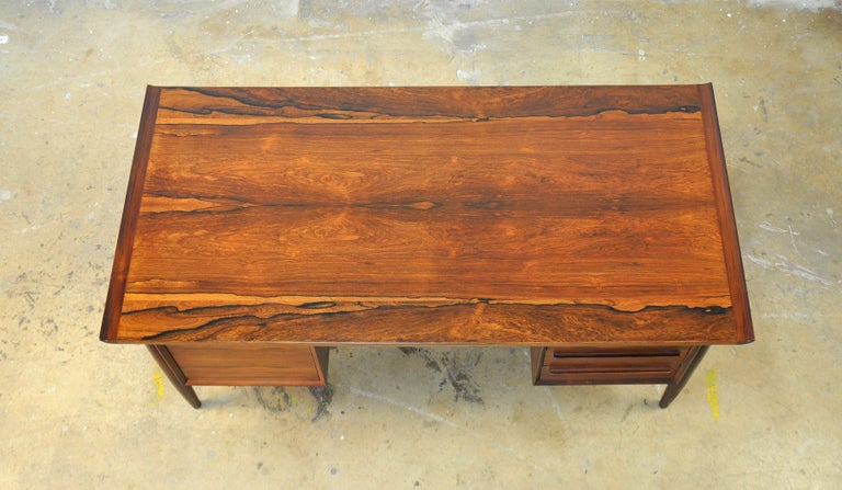 Danish H. P. Hansen Rosewood Desk For Sale 6