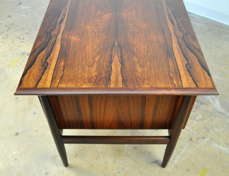 Danish H. P. Hansen Rosewood Desk For Sale 7