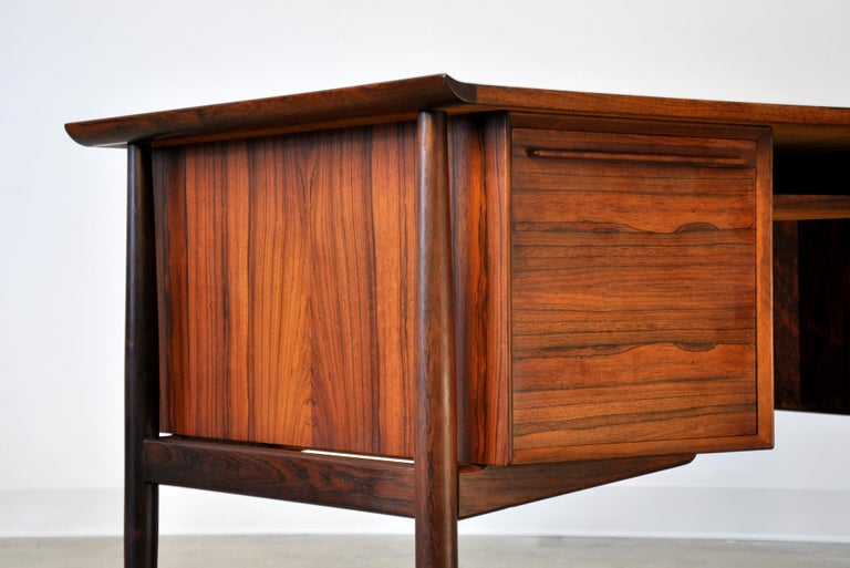 Danish H. P. Hansen Rosewood Desk For Sale 8