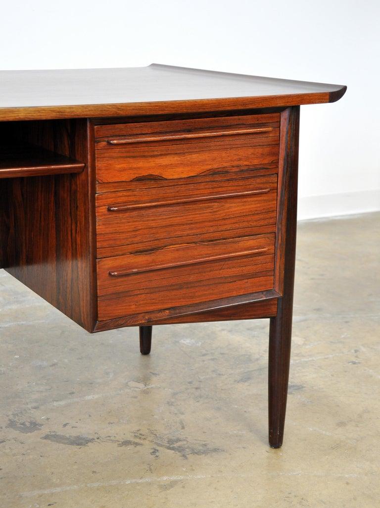 Danish H. P. Hansen Rosewood Desk For Sale 9