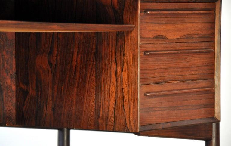 Danish H. P. Hansen Rosewood Desk For Sale 10