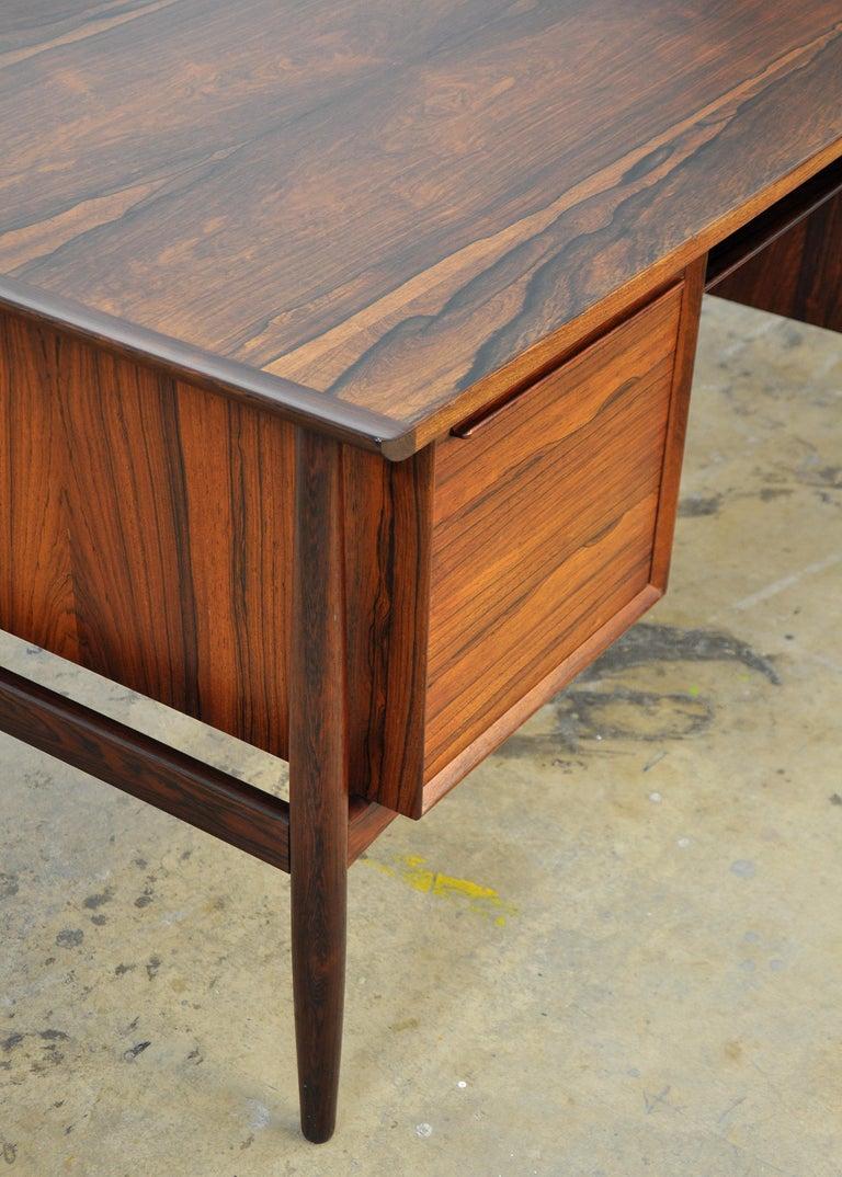 Danish H. P. Hansen Rosewood Desk For Sale 11