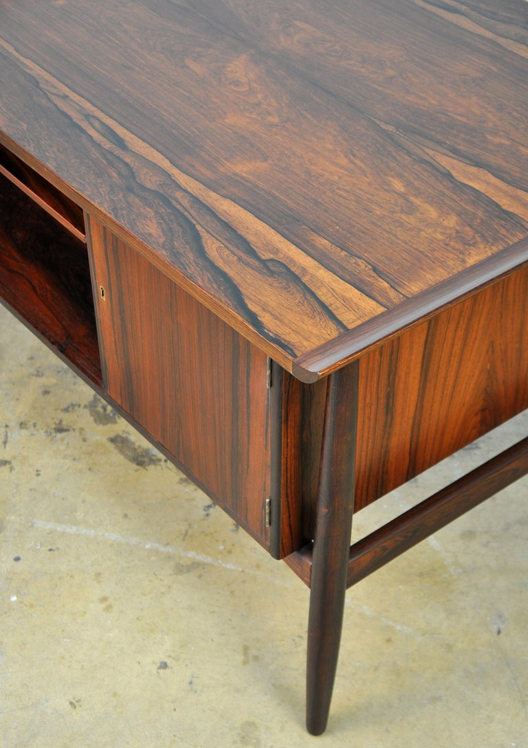 Danish H. P. Hansen Rosewood Desk For Sale 12