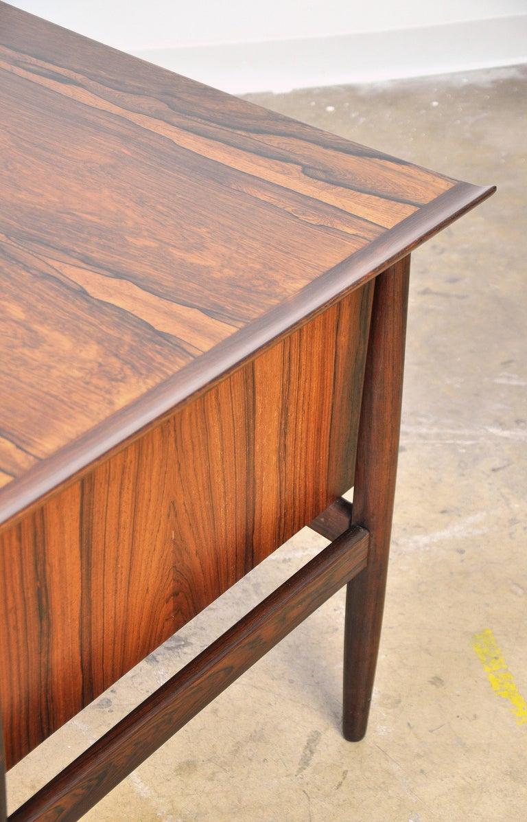 Danish H. P. Hansen Rosewood Desk For Sale 13