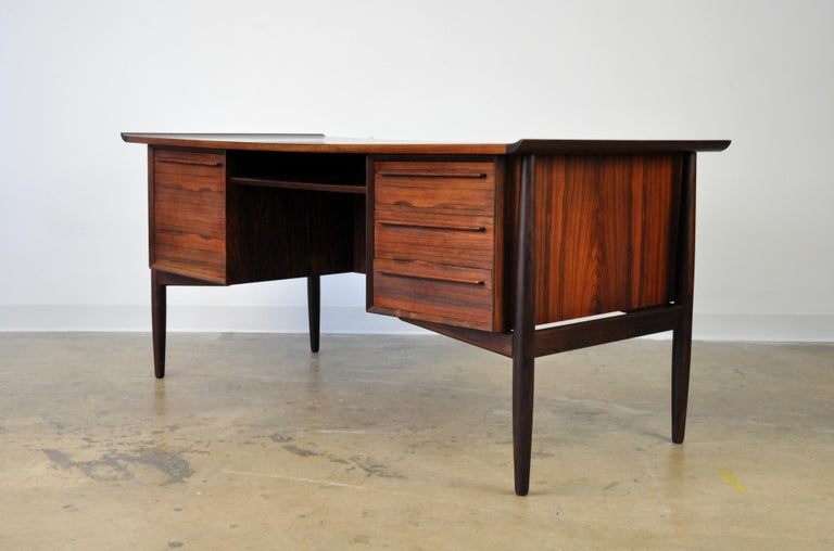 Scandinavian Modern Danish H. P. Hansen Rosewood Desk For Sale