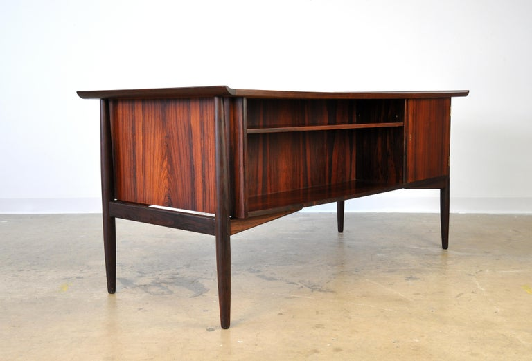 Mid-20th Century Danish H. P. Hansen Rosewood Desk For Sale