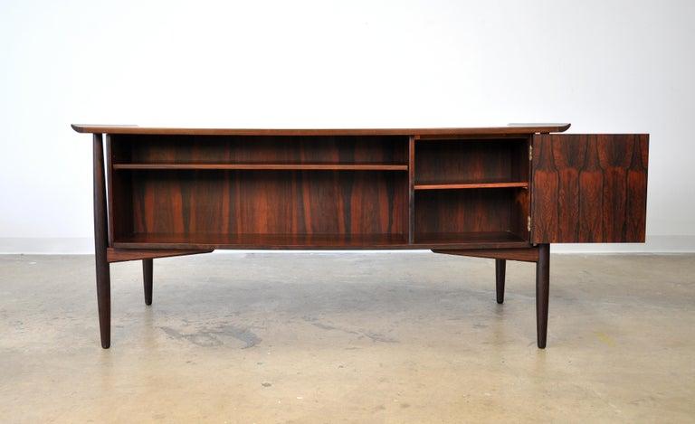Danish H. P. Hansen Rosewood Desk For Sale 1