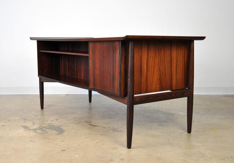 Danish H. P. Hansen Rosewood Desk For Sale 2
