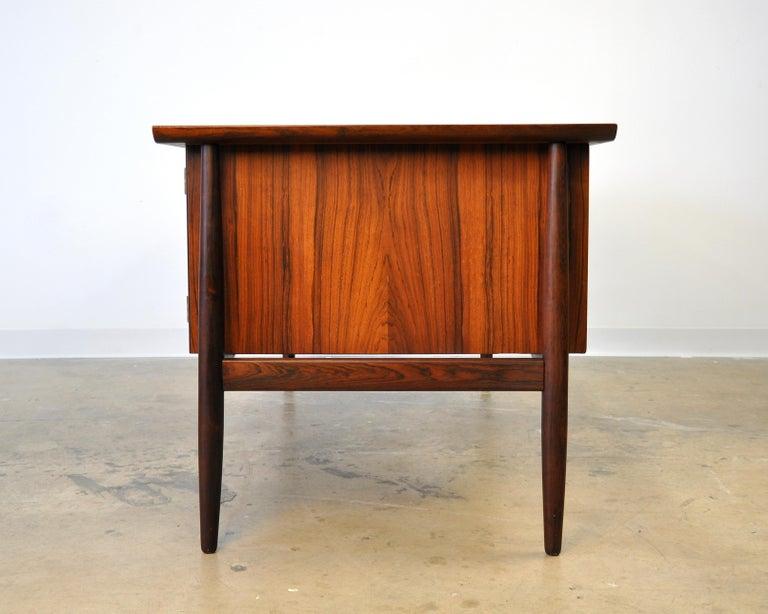 Danish H. P. Hansen Rosewood Desk For Sale 3