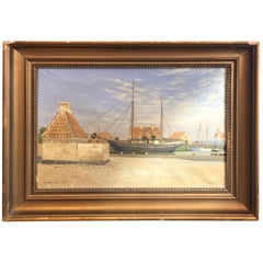 Danish Harbor Scene
