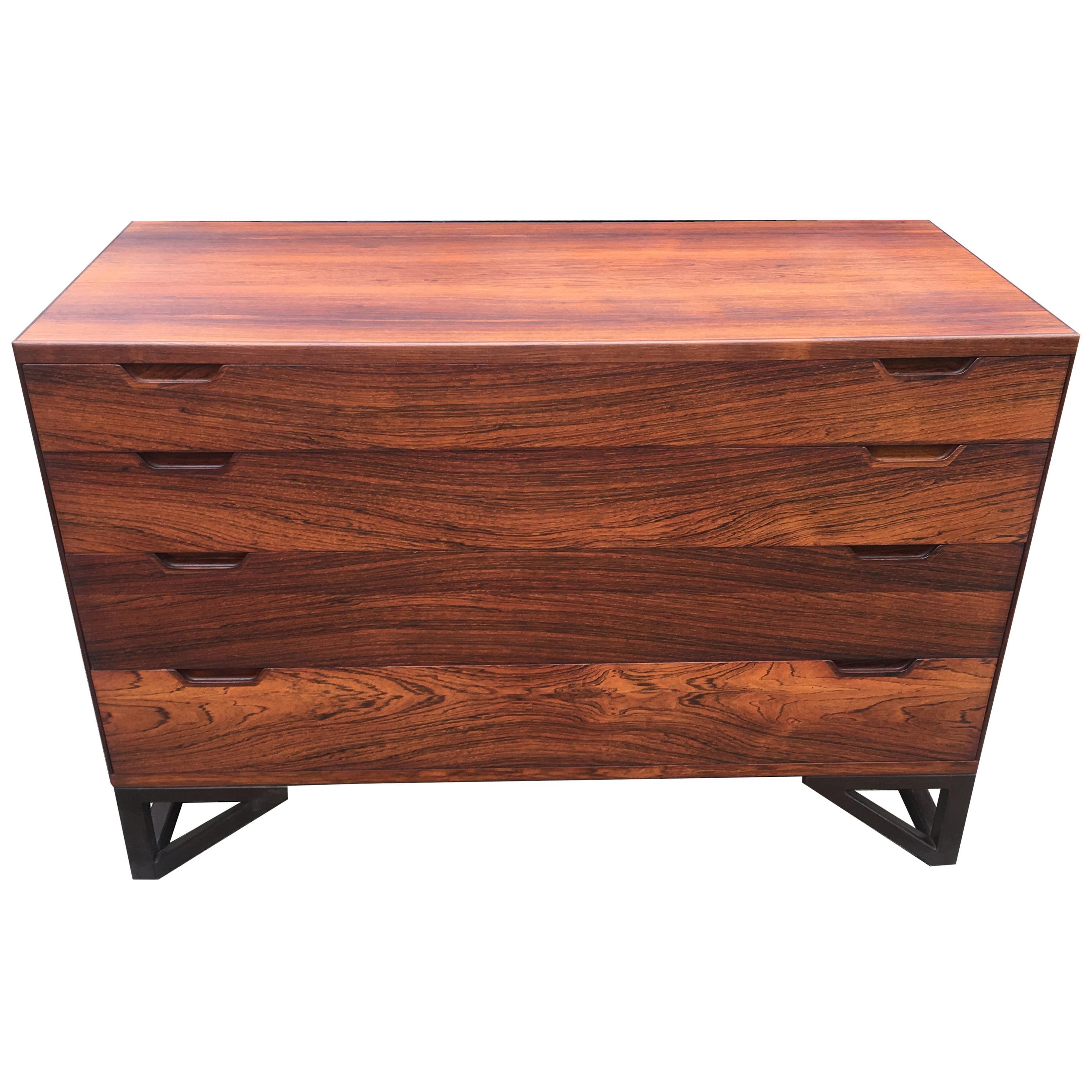 Danish Hardwood Chest of Drawers by Svend Langkilde for Langkilde Mobler