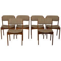 Danish Hardwood Dining Chairs OD-49 by Erik Buch