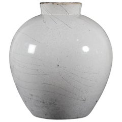 Danish Herman A Kähler Large Ceramic Vase with Ash Grey Glaze, Mid-20th Century