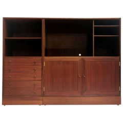 Danish HG Furniture Midcentury Vintage Bookcase Wall Unit, 1970s